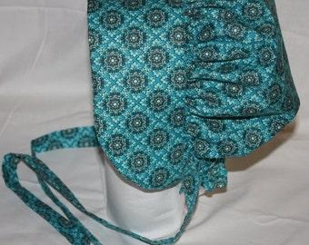 Pioneer  Bonnet   Turquoise Blue