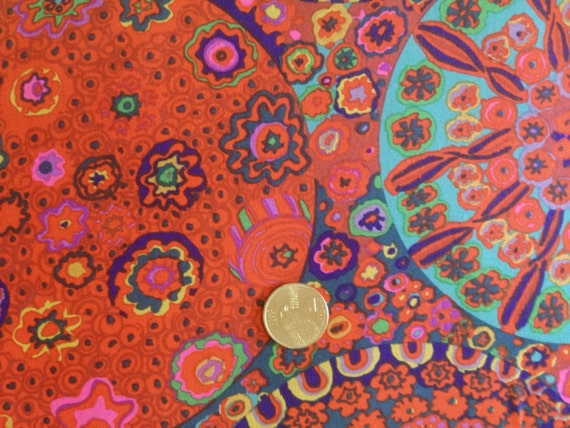 MILLEFIORE in RED by Kaffe Fassett Collective Sold in 1/2 yard increments