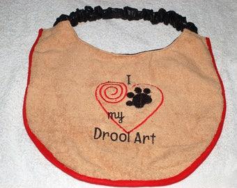 Dog drool Bib - 100% waterproof - machine washable - Personally done handmade