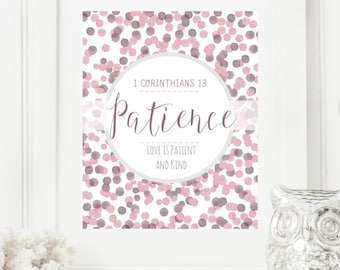 Personalized Dots Digital Wall Art Print | Modern Christian Art | Scripture Print | Word of the Year