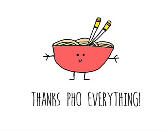 Thanks, Pho everything, A6 card