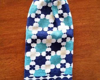 Hand Towel - Blue Tiles