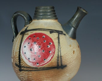 Handmade Ceramic Red Dot Pouring Vessel