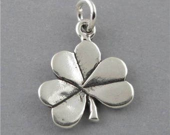 New Sterling Silver 925 Charm Pendant CLOVER SHAMROCK Good Luck SC552