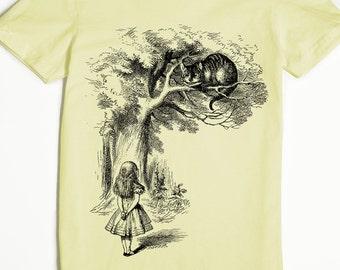 Cheshire Cat Shirt - Alice in Wonderland Shirt - Women's T-shirt - Lewis Carroll Shirt - Graphic Tee for Women - John Tenniel Art