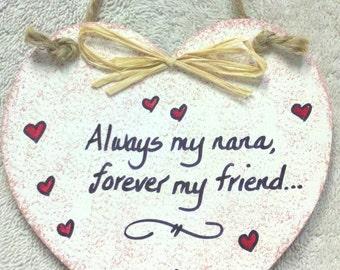 Nana Heart Plaque