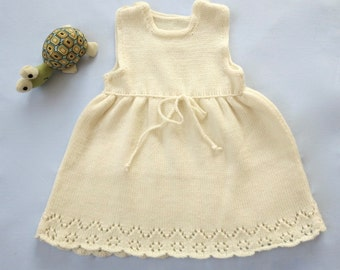 Sample Sale - Baby Girl Pointelle Dress  -  3 M - Ready to ship