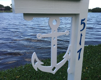 Anchor Mailbox Bracket - Large. Long Lasting & Fabulous! *FREE SHIPPING to the continental USA*