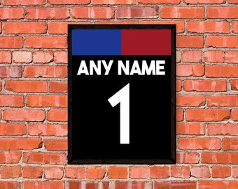 US Soccer Jersey Print - Any Name and Number - Custom - OR - Choose your favorite player