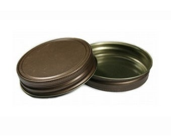 12 pcs Antique Bronze Mason Jar Lid for Regular Mouth Mason Jars