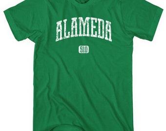 Alameda 510 California T-shirt - Men and Unisex - XS S M L XL 2x 3x 4x - Alameda Shirt, Bay Area, California - 4 Colors