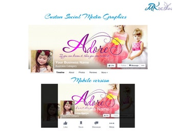 Facebook cover photo, Custom cover photo, Social media cover image, Profile image,