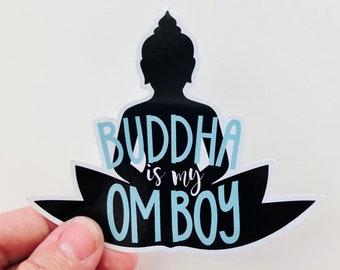 buddha is my om boy vinyl sticker