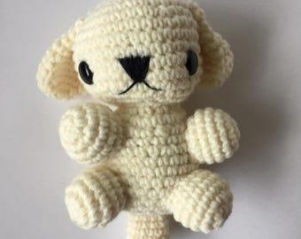 crochet labrador puppy, amigurumi crochet puppy, cute birthday gift, stuffed animal, stuffed puppy toy, all handmade, ready to ship