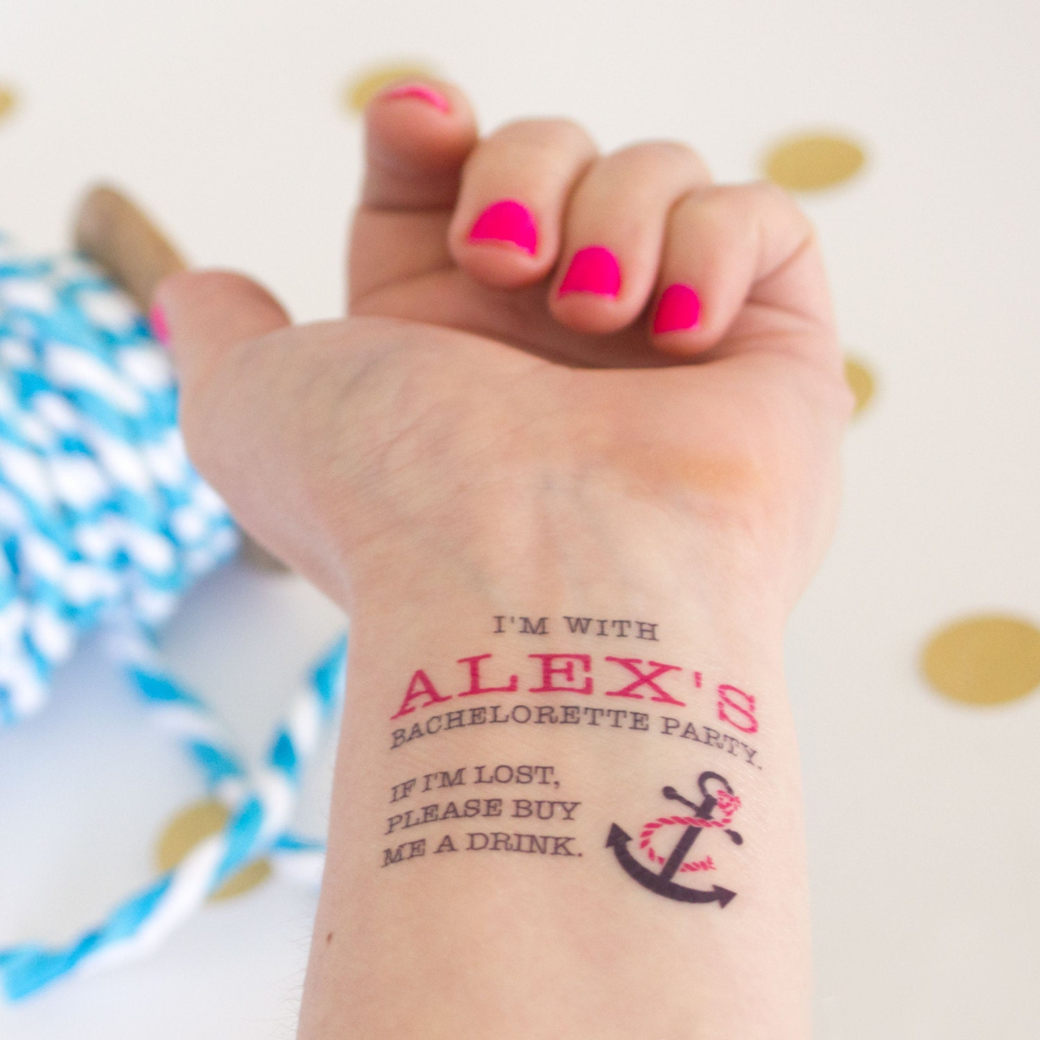 Bachelorette Temporary Tattoos Nautical Themed If Lost Buy