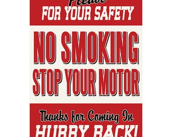 No Smoking Gas Station Safety Wall Decal #42480