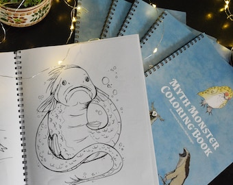 Myth Monster Coloring Book