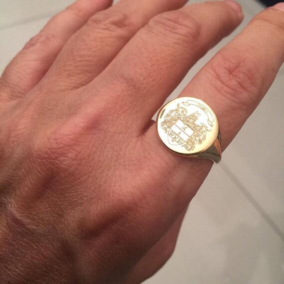 Molto Stemma della famiglia Crest anello Crest incidere anello OA59