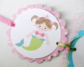 Mermaid Happy Birthday Banner Under the Sea Birthday Banner