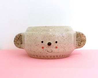 face planter/face pot/face plant pot/face plantpot/face vase/face vessel/animal pot/animal planter/unique gift/head pot/head planter