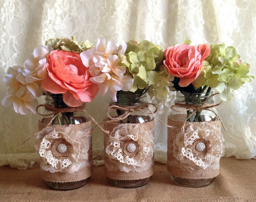 how to make burlap mason jars