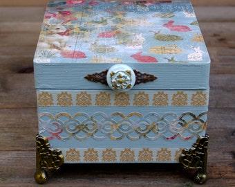 Hand Made Jewelry Box, Trinket Box, Keepsake Box