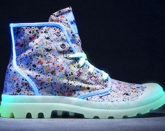 Palladium x Atmos Glow in the Dark Paint Splatter boots
