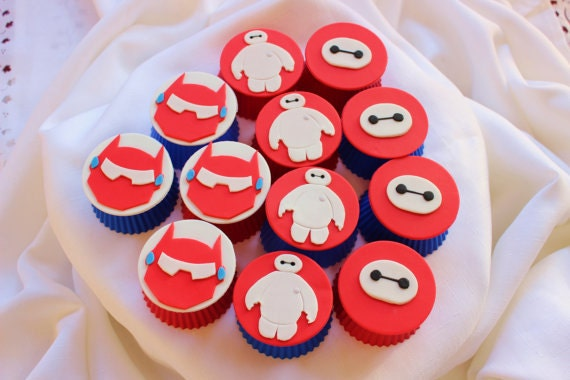 baymax cupcake toppers 12pcs 25 fondant toppers