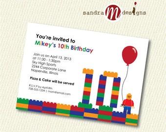 INVITATION: Color Blocks Birthday
