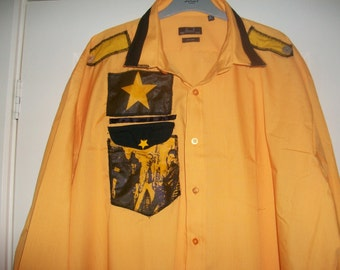 Joe Strummer The Clash Replica Yellow Male punk 1977 rock retro shirt