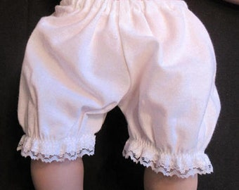 Baby Doll Clothes, White Panties/Bloomers,underwear,fits 15-16 inch doll and bitty baby