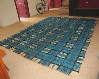 Large Rya Style Mid Century Shag Rug