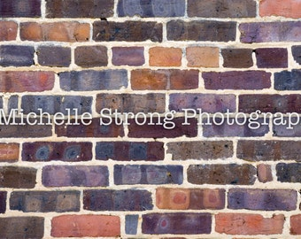 Scrapbooking Background, Brick Background, Photography Prop, Digital Download, Colorful Brick Wallpaper, Textured Background, Stock Image