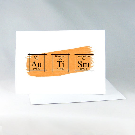 autism card periodic table of the elements science elements art chemistry wall art autism gift card chemistry card science nerds 3002 - Periodic Table Autistic