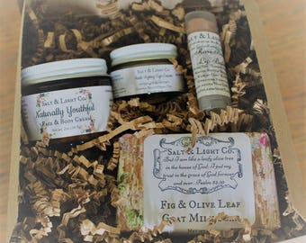 Eco-Friendly Spa Facial Gift Box-Organic-Natural-Mother's Day-Birthday-Bridal Shower