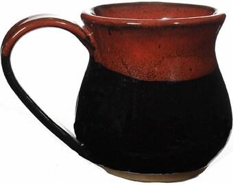 10 Oz. Mug in Red on Black Glaze
