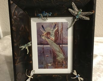 Jewelry Art, Dragon Fly Framed Picture, Vintage/vintage style brooches