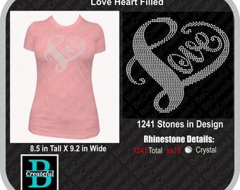Love heart filled Digital Download