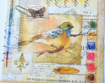 2 Bird Decoupage Paper Napkins/ Print Paper Napkins for Decoupage/ German Serviette / Scrapbooking Paper