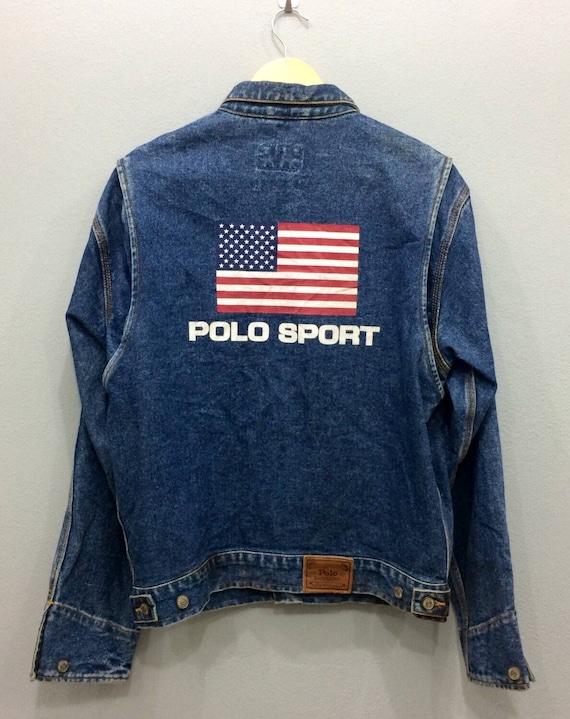 RARE!! Polo Sport by Ralph Lauren spell out big logo streetwear asN0lKnbC