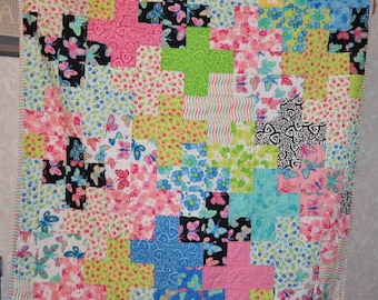Plus Plus Quilt Pattern makes a 66 by 8