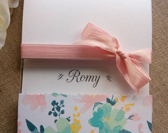 Card congratulations for a newborn baby girl.