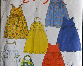 Girls' Dresses Sewing Pattern New Look 6769 Girls' Dresses Size 3-8 Complete UNCUT