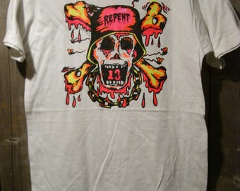 Vintage Big Daddy Roth B.D. RAT Repent 13 Iron On Transfer T-Shirt