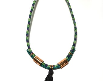 Whitney- Handmade statement necklace