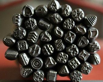 40 Piece Metal Design Stamp Set- Many Popular Stamp Designs - Made In The USA- Alternative Design Stamps- 5MM - SG-Rg40Set