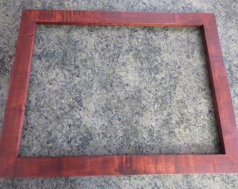 18x24 Light Curly Maple Reddish Brown Dye Picture Frame