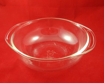 Vintage Glass Bowls one Pyrex one unmarked