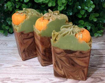 Pumpkin Patch | Pumpkin Spice | Artisan Soap | XL Size | Limited Edition | Fall Soap | Cold Process | Palm Free | Luxury | Foodie Soap