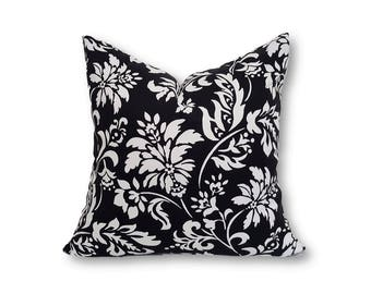 Classic White Black Indoor Cushion Cover, Decorative Cushion Cover, Lumbar Cushions, Black Cushions, Decorative Pillows